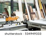 view on saw machine at... | Shutterstock . vector #534949333