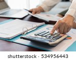 women accountant or banker... | Shutterstock . vector #534956443