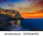 cinque terre colorful... | Shutterstock . vector #534966403