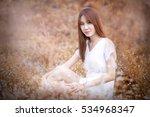 automn warm tone portrait of a...   Shutterstock . vector #534968347