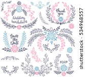 hand drawn wedding collection... | Shutterstock .eps vector #534968557