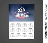 2017 calendar | Shutterstock .eps vector #534970363