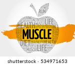 muscle apple word cloud  health ...