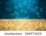 Abstract Defocused Gold And...