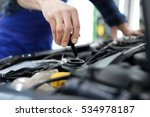 mechanic tightened the valve... | Shutterstock . vector #534978187