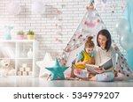 happy loving family. pretty... | Shutterstock . vector #534979207