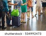 closeup queue of asian people... | Shutterstock . vector #534992473
