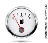 fuel gauge. round gauge with... | Shutterstock . vector #534994933