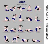 fitness exercises with cartoon... | Shutterstock . vector #534997087