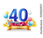 40 years anniversary... | Shutterstock .eps vector #535003957