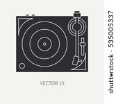 silhouette vector icon with... | Shutterstock .eps vector #535005337