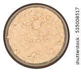 bio organic pea protein powder... | Shutterstock . vector #535008517