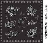 valentines day. lettering set . ...   Shutterstock .eps vector #535010653