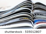 stack of magazines isolated on... | Shutterstock . vector #535012807