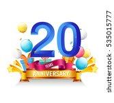 20 years anniversary... | Shutterstock .eps vector #535015777