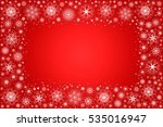 christmas card with snowflakes... | Shutterstock .eps vector #535016947
