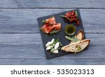 catering platter antipasto with ... | Shutterstock . vector #535023313