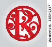monogrammed font letter in... | Shutterstock .eps vector #535041667