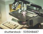 medical equipment microscope.   Shutterstock . vector #535048687