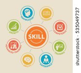 skill. concept with icons and... | Shutterstock . vector #535049737