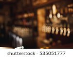 brown toned bar out of focus... | Shutterstock . vector #535051777