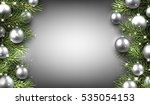 new year background with silver ... | Shutterstock .eps vector #535054153