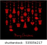 merry christmas greeting card... | Shutterstock .eps vector #535056217