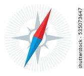 compass needle icon. modern ... | Shutterstock .eps vector #535073647