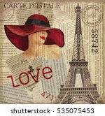vintage poster paris torn...