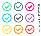 check mark outline colorful set | Shutterstock .eps vector #535075507