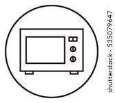 microwave oven linear icon | Shutterstock . vector #535079647