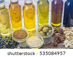 bottles with different kinds of ... | Shutterstock . vector #535084957