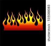 fire icon flames vector... | Shutterstock .eps vector #535088083