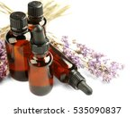 Bottles With Essential Oil And...