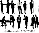 business people silhouettes  ... | Shutterstock .eps vector #535093837