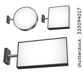 blank wall mounted street shop... | Shutterstock .eps vector #535094017