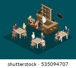 isometric 3d flat interior of... | Shutterstock .eps vector #535094707