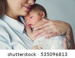 mom and baby. close up. | Shutterstock . vector #535096813