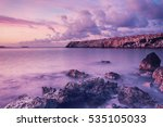 beautiful colorful sunrise at... | Shutterstock . vector #535105033