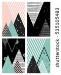 set of abstract geometric... | Shutterstock .eps vector #535105483