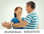 seniors enjoying living room... | Shutterstock . vector #535107373