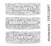 set of business doodle elements ... | Shutterstock . vector #535113097