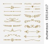 hand drawn text dividers and... | Shutterstock .eps vector #535114117