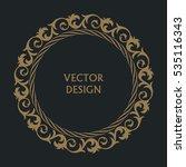 circular baroque pattern. round ... | Shutterstock .eps vector #535116343