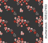 seamless delicate pattern of... | Shutterstock .eps vector #535117453