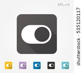 colored icon of switcher symbol ... | Shutterstock .eps vector #535120117