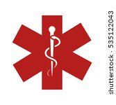 caduceus sign isolated icon | Shutterstock .eps vector #535122043