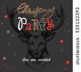 vector christmas party... | Shutterstock .eps vector #535132393