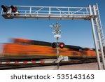 Zooming Train Engine Speeding...