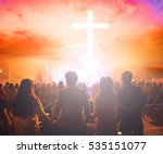 christians prayed together in... | Shutterstock . vector #535151077